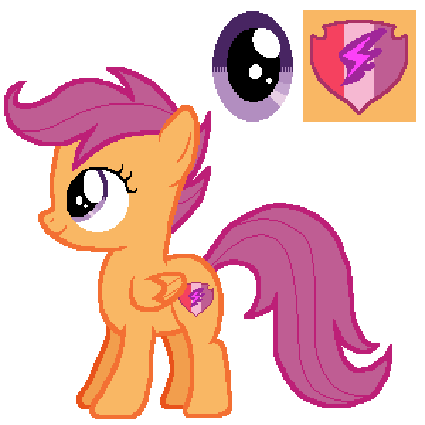 Scootaloo Color Guide Mlp Vector Club Was meant to be practice/demonstration in my stream for colour theory but then i couldn't stop drawing. scootaloo color guide mlp vector club