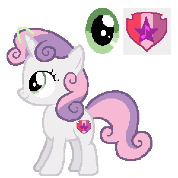 Sweetie Belle Friendship Is Magic Color Guide Mlp Vector Club